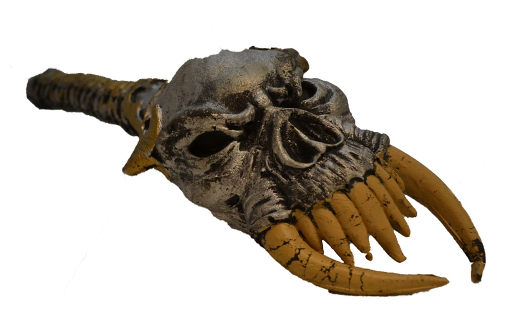 Skull Head with Fangs Staff