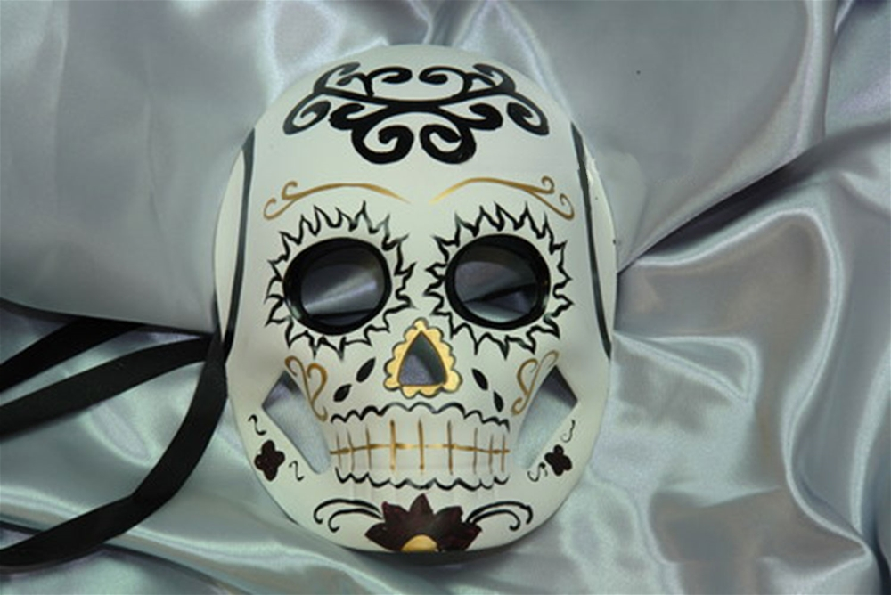 Day of the Dead Black & Gold Mask
