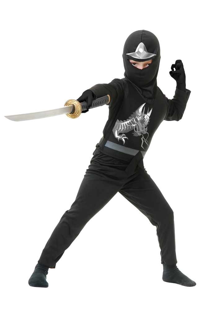 Ninja Avengers Series II Black Child Costume