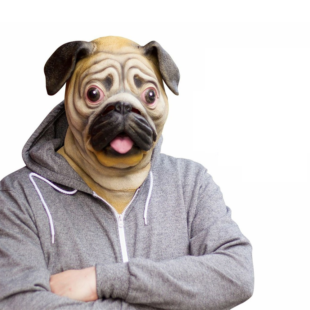 Pug Adult Latex Mask