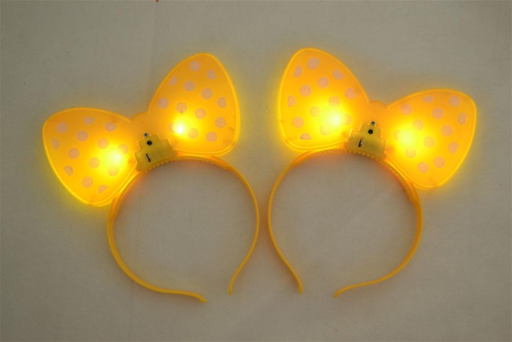 Image of Bow-Tie Flashing Yellow Headband Pack