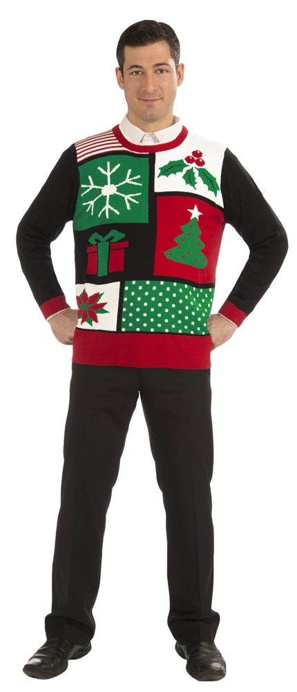 Jolly Holiday Ugly Christmas Adult Sweater