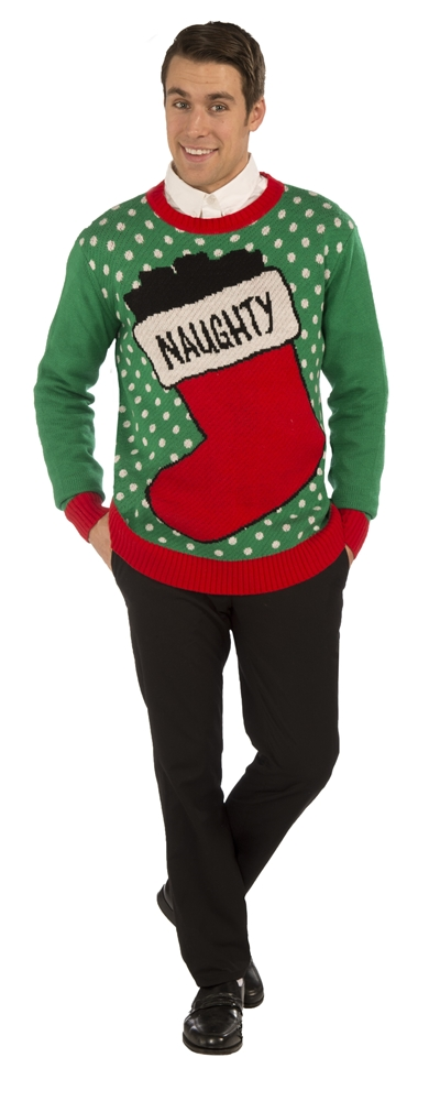 Naughty Stocking Christmas Adult Sweater