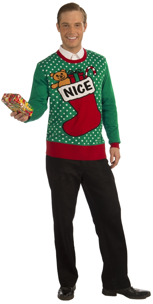 Nice Stocking Christmas Adult Sweater