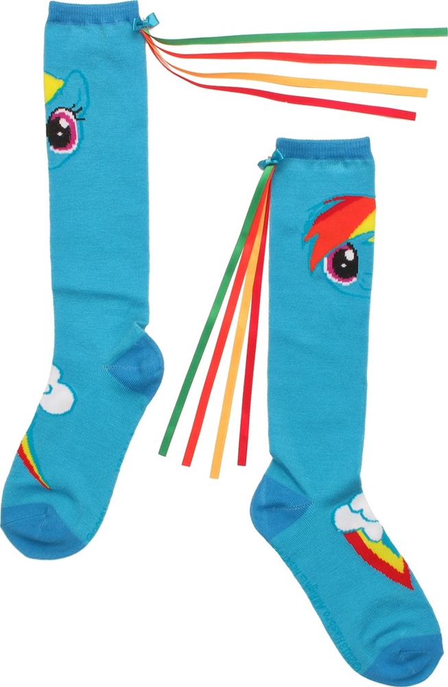 My Little Pony Rainbow Dash Socks with Tail by Ripple Junction