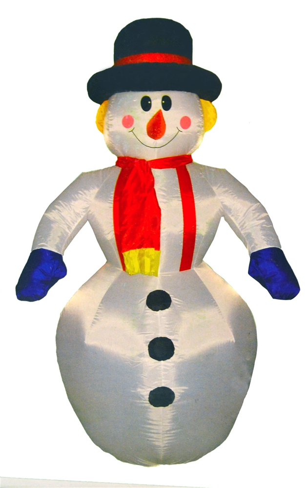Snowman Inflatable Decoration 4ft