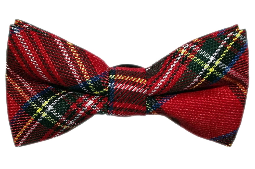 Red Plaid Bow Tie (Red Bow Tie)