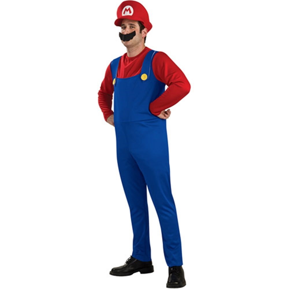 Mario Brothers Mario Adult Mens Plus Size Costume