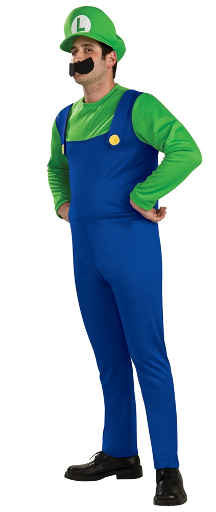 Mario Brothers Luigi Adult Mens Plus Size Costume