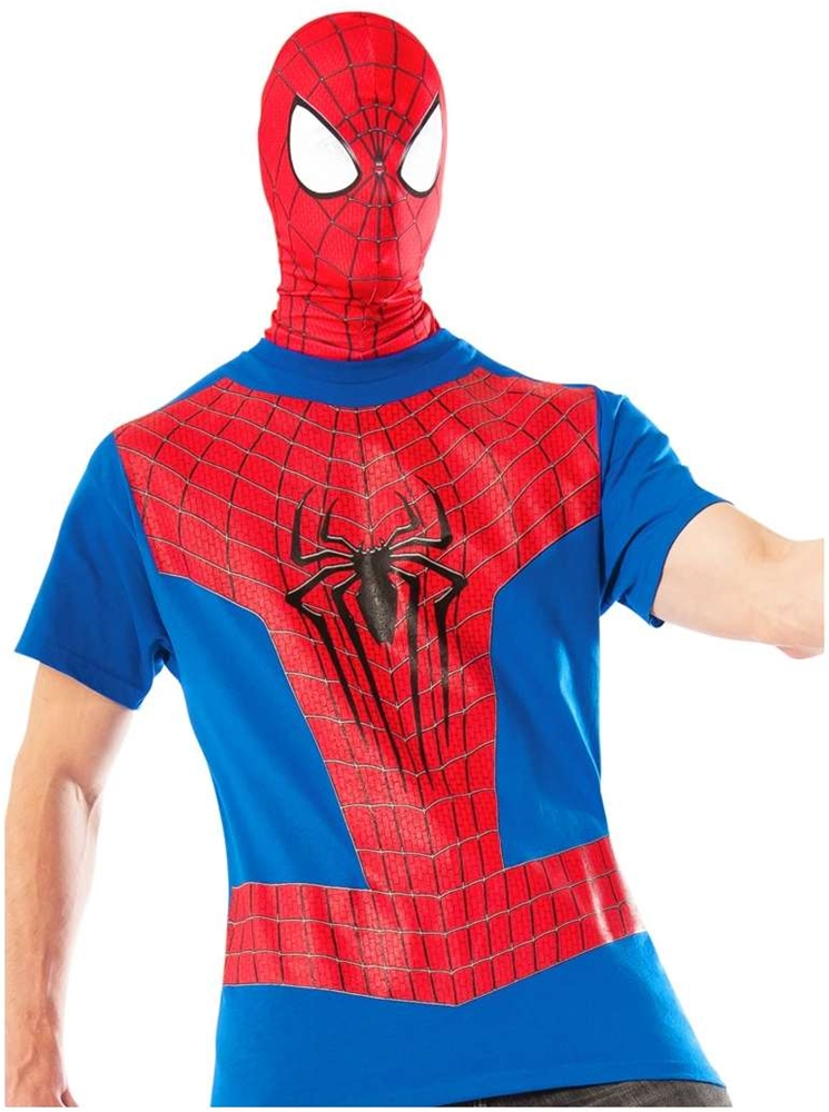 Spider-Man T-Shirt & Mask Adult Mens Costume
