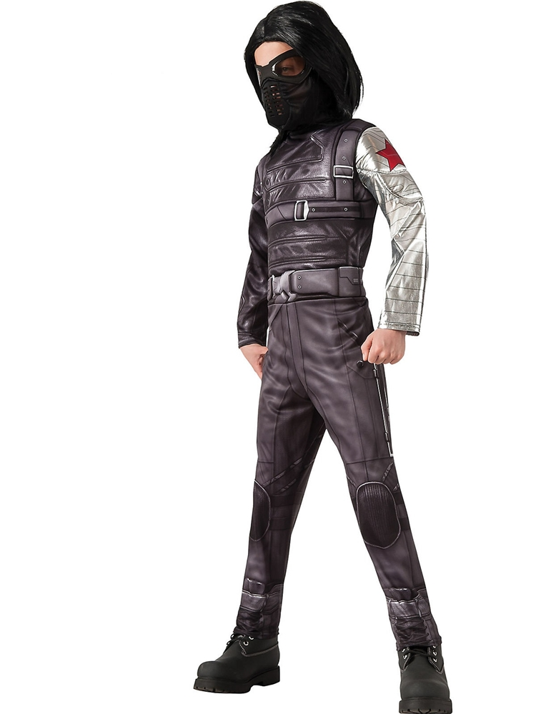 Captain America the Winter Soldier Deluxe Jumpsuit Child Costume