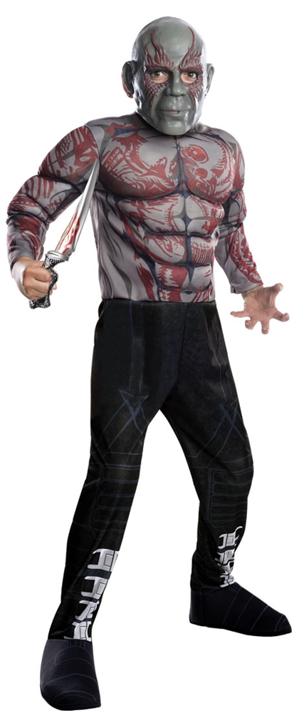 Drax the Destroyer Deluxe Muscle Child Costume