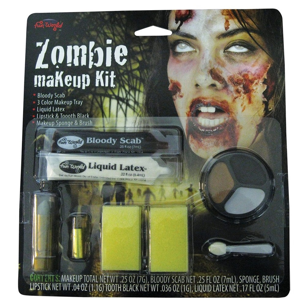 Female Zombie Deluxe Makeup Kit