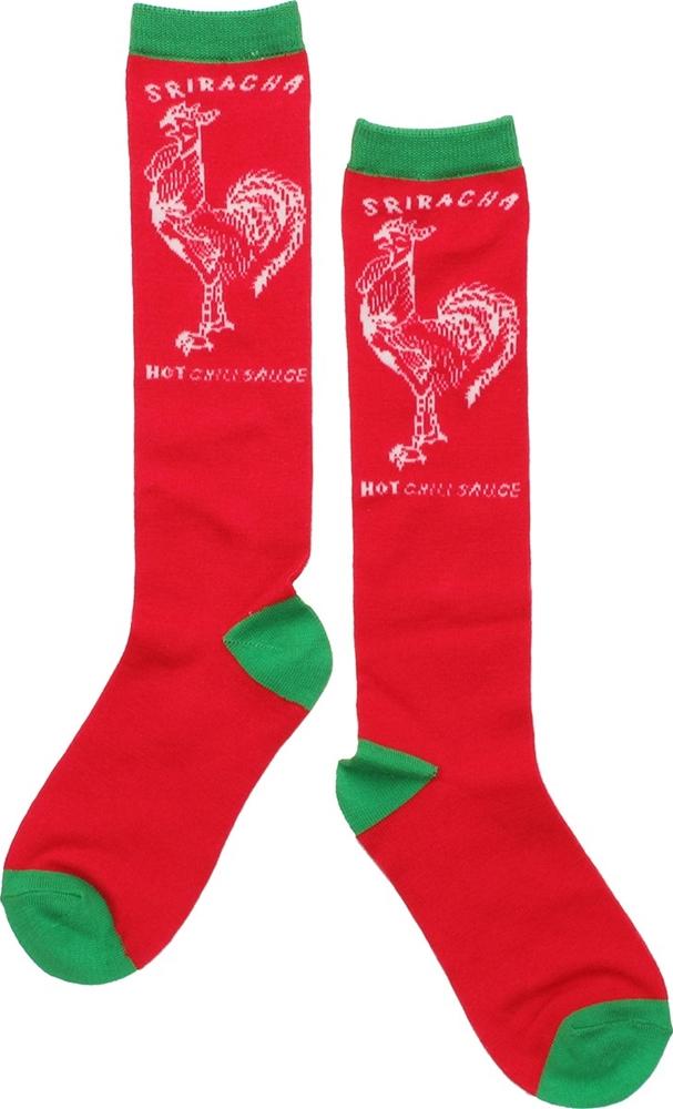 Sriracha Hot Chili Red Knee High Socks