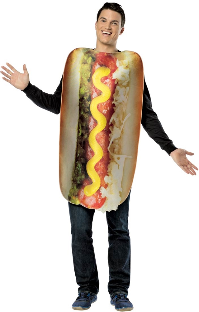Realistic Hot Dog Adult Unisex Costume