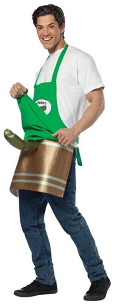 Deli Pickleman Apron Adult Mens Costume