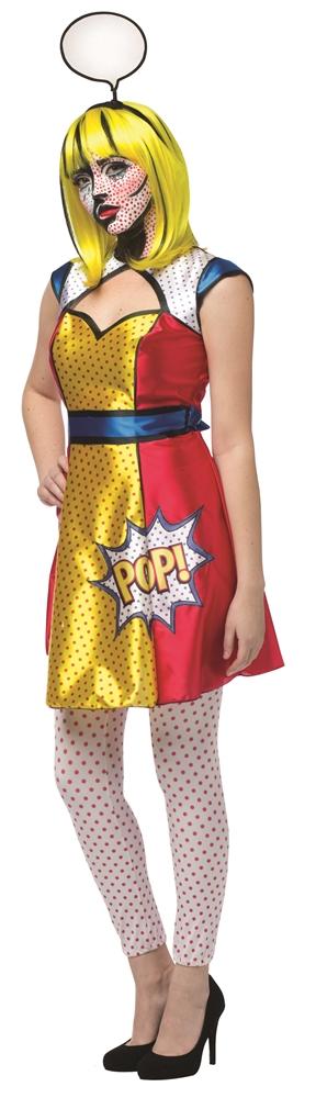 Pop Art Dress Adult Womens Costume