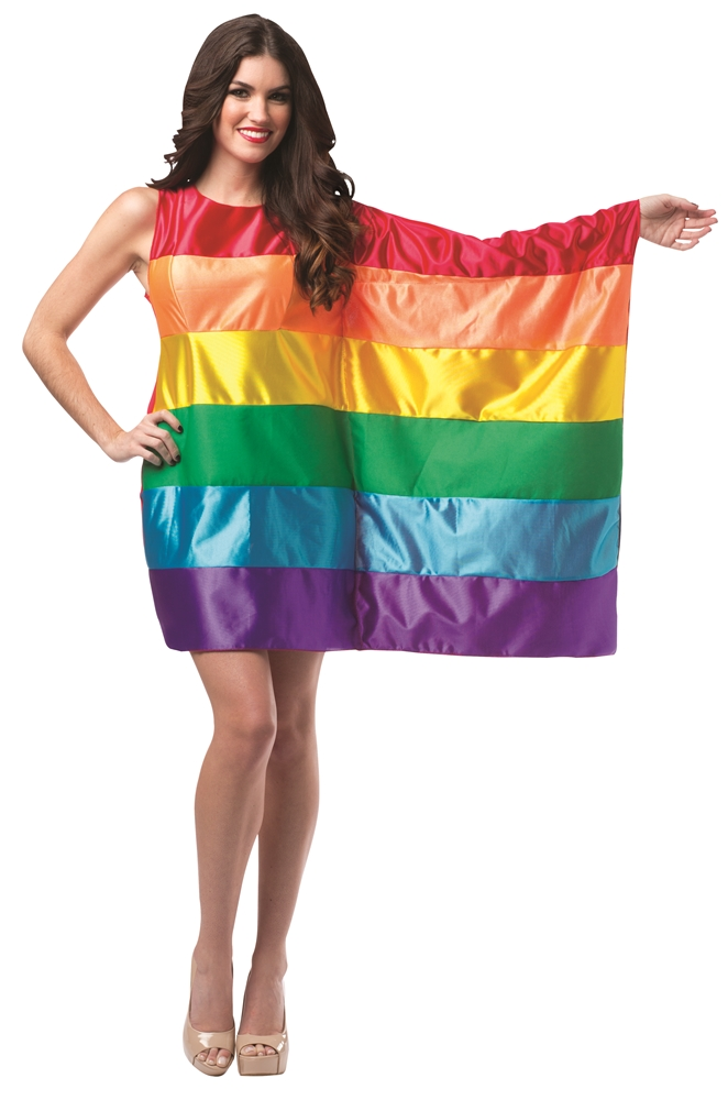 Rainbow Flag Dress Adult Womens Costume