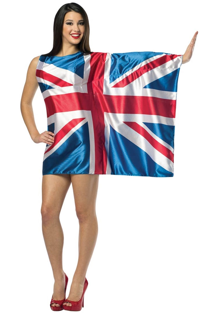 UK Flag Dress Adult Womens Costume