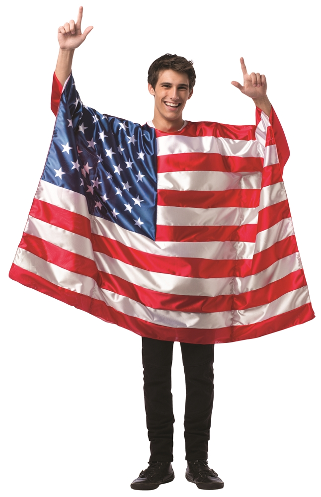 [USA Flag Tunic Adult Unisex Costume] (Costumes Usa)