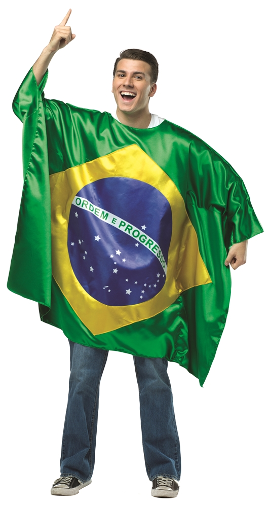 Brazil Flag Tunic Adult Unisex Costume