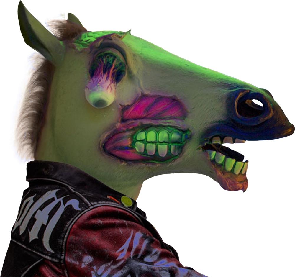 Zombie Horse Head Mask 321636 Trendyhalloween Com