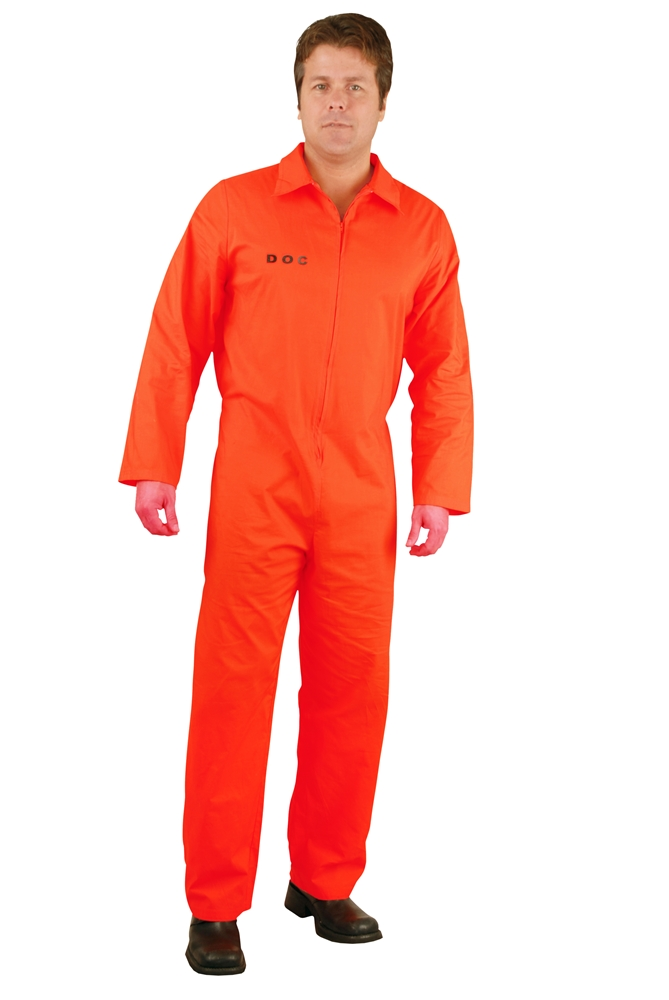 Prison Department of Corrections Adult Mens Plus Size Costume