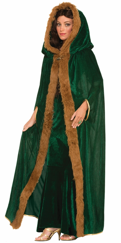 Faux Fur Trimmed Cape Adult Womens Costume by Forum Novelties