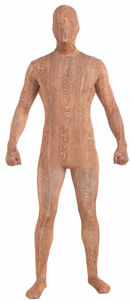 Wood Plank Skin Suit Adult Mens Costume