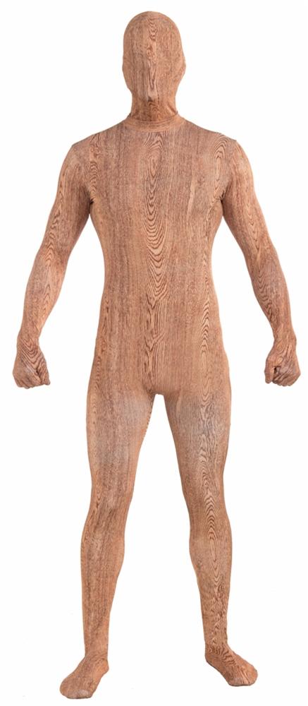 Wood Plank Skin Suit Adult Mens Costume 71986