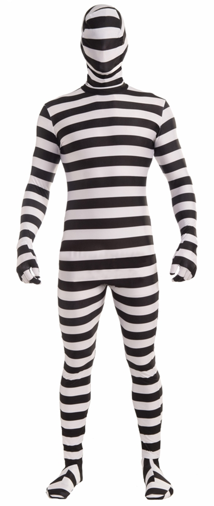 Prisoner Skin Suit Adult Mens Costume