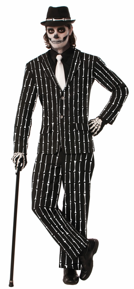 Bone Pinstriped Suit Adult Mens Costume by Forum Novelties