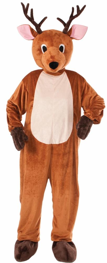 Reindeer Mascot Jumpsuit Adult Unisex Costume 322051