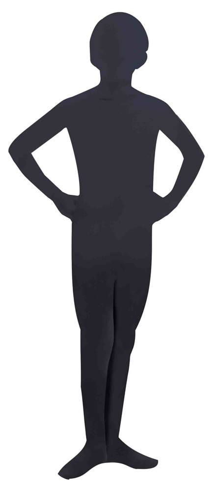 Black Invisible Skin Suit Child Costume
