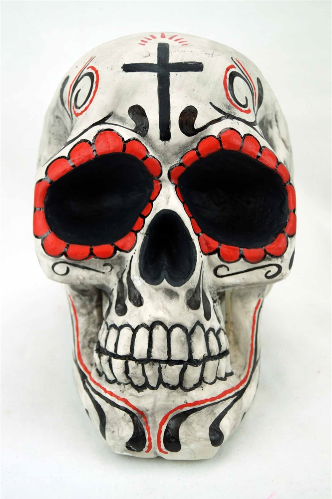 Giant Day of the Dead Skull Prop by Bauer Pacific Imports