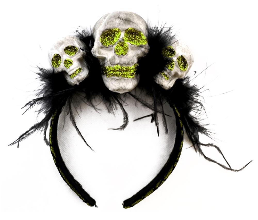 Glittered Eyed Skull Headband