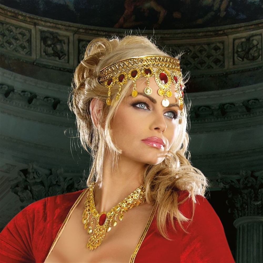 Dripping Rubies Gold Headpiece by Dreamgirl