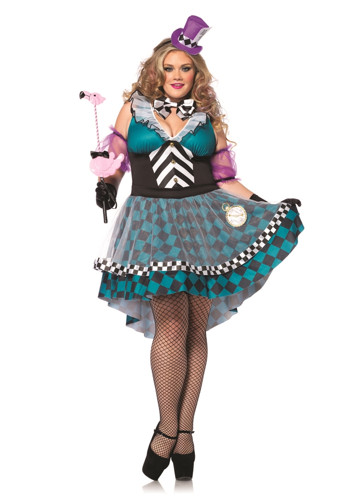 Manic Mad Hatter Adult Womens Plus Size Costume