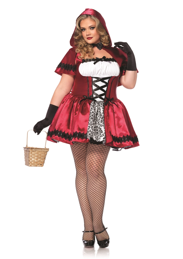 Gothic Red Riding Hood Adult Womens Plus Size Costume by Leg Avenue