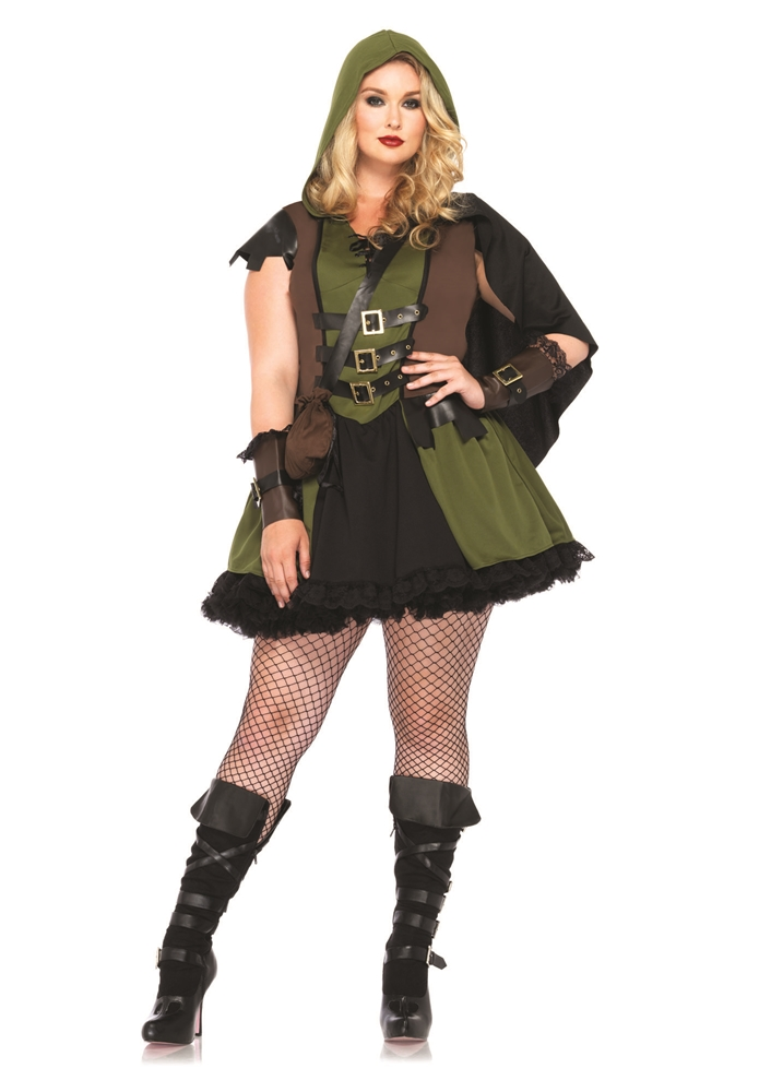 Darling Robin Hood Adult Womens Plus Size Costume by Leg Avenue