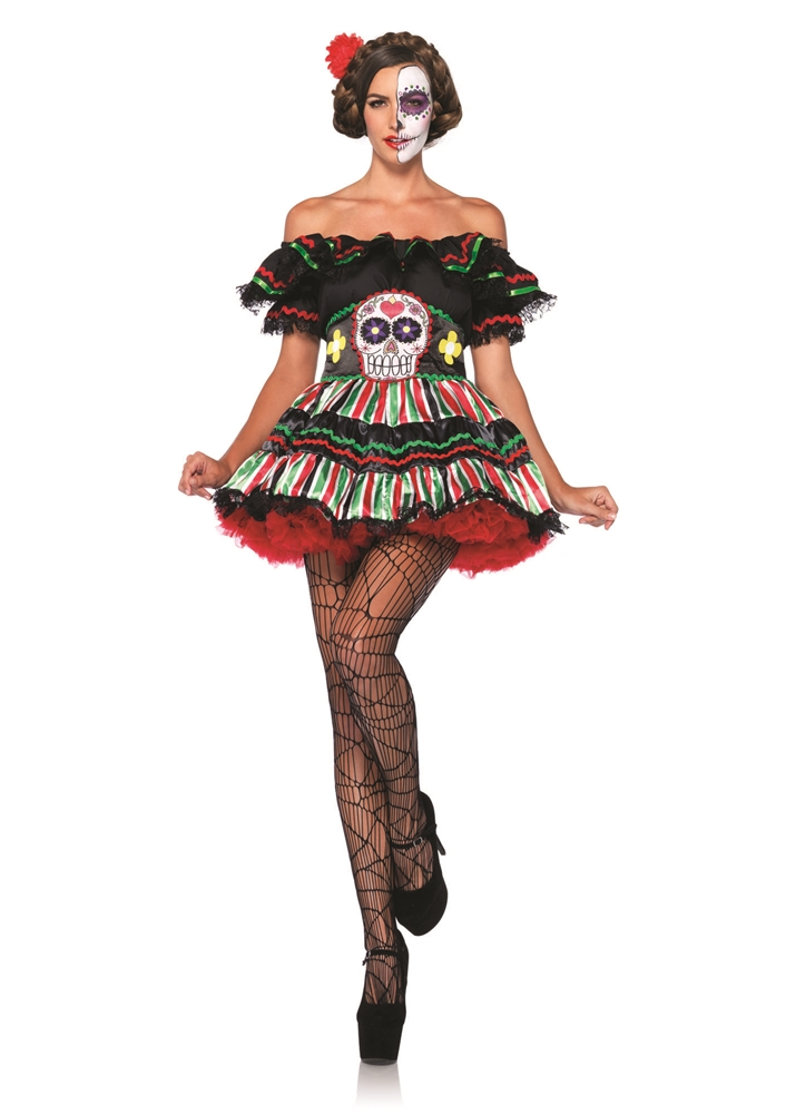 Day of the Dead Doll Adult Womens Costume by Leg Avenue