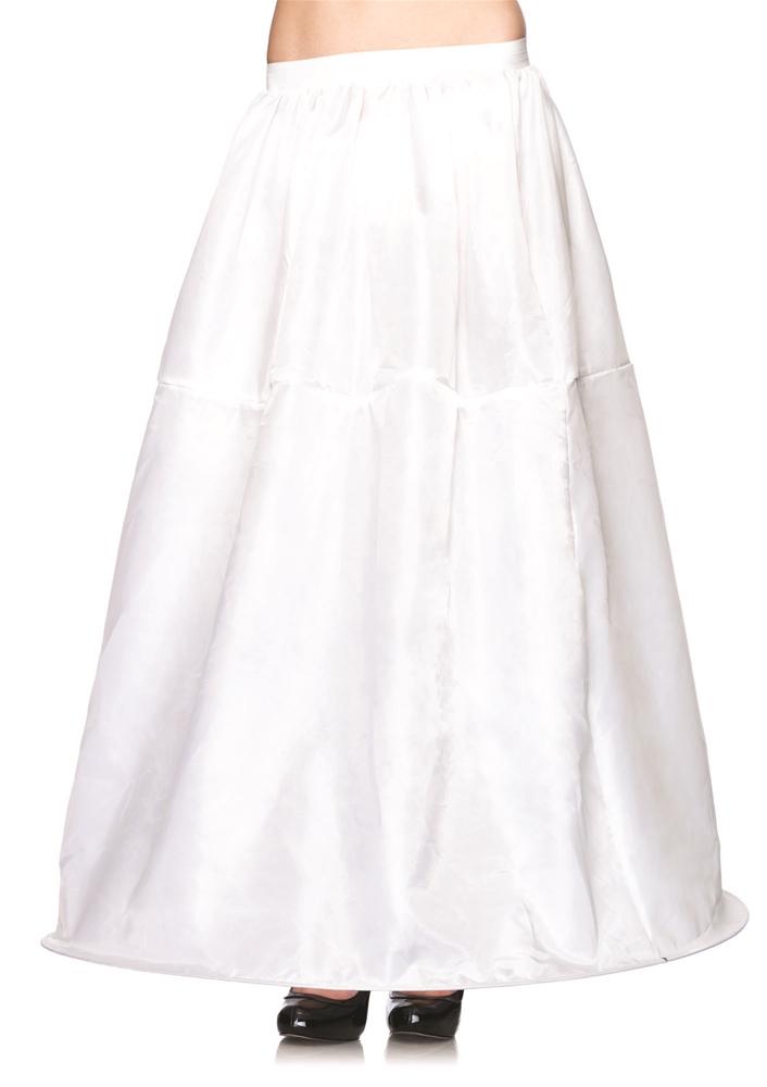 Image of Long White Hoop Skirt