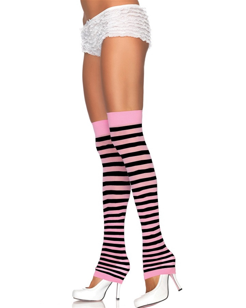Opaque Striped Leg Warmers (More Colors)