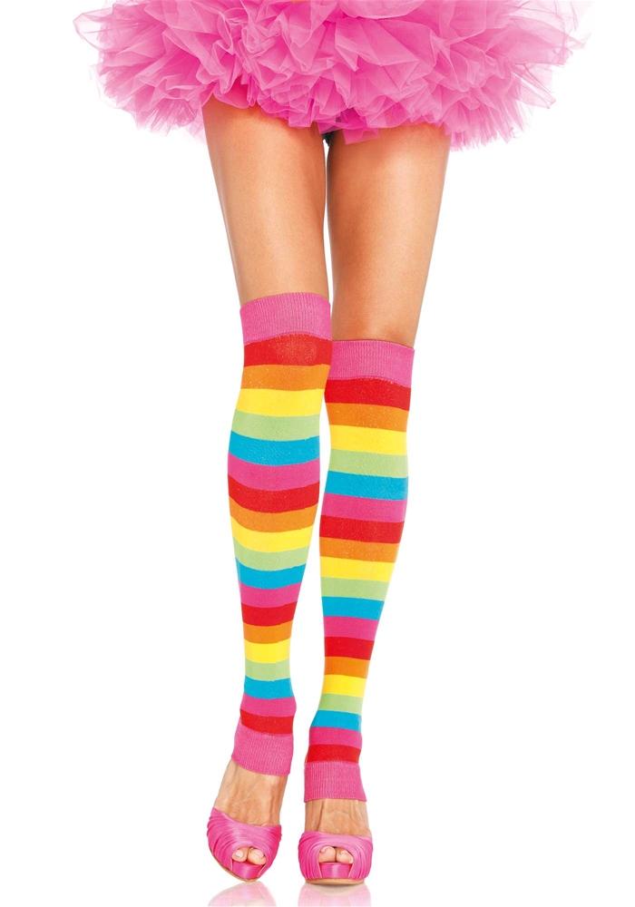 Rainbow Leg Warmers by Leg Avenue