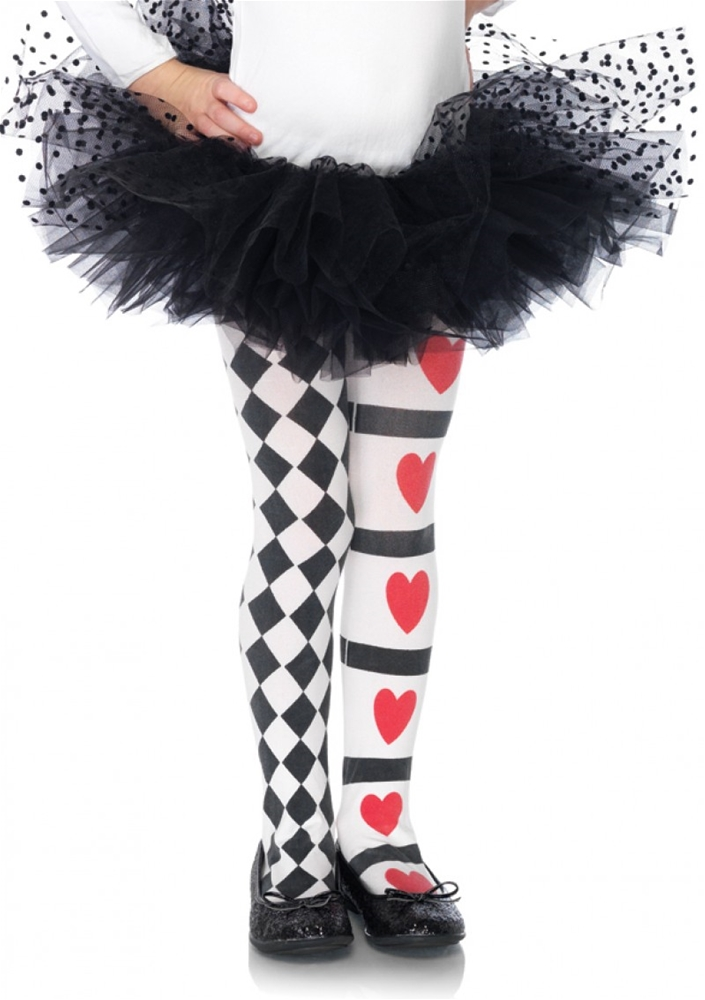 Harlequin Heart Child Tights by Leg Avenue