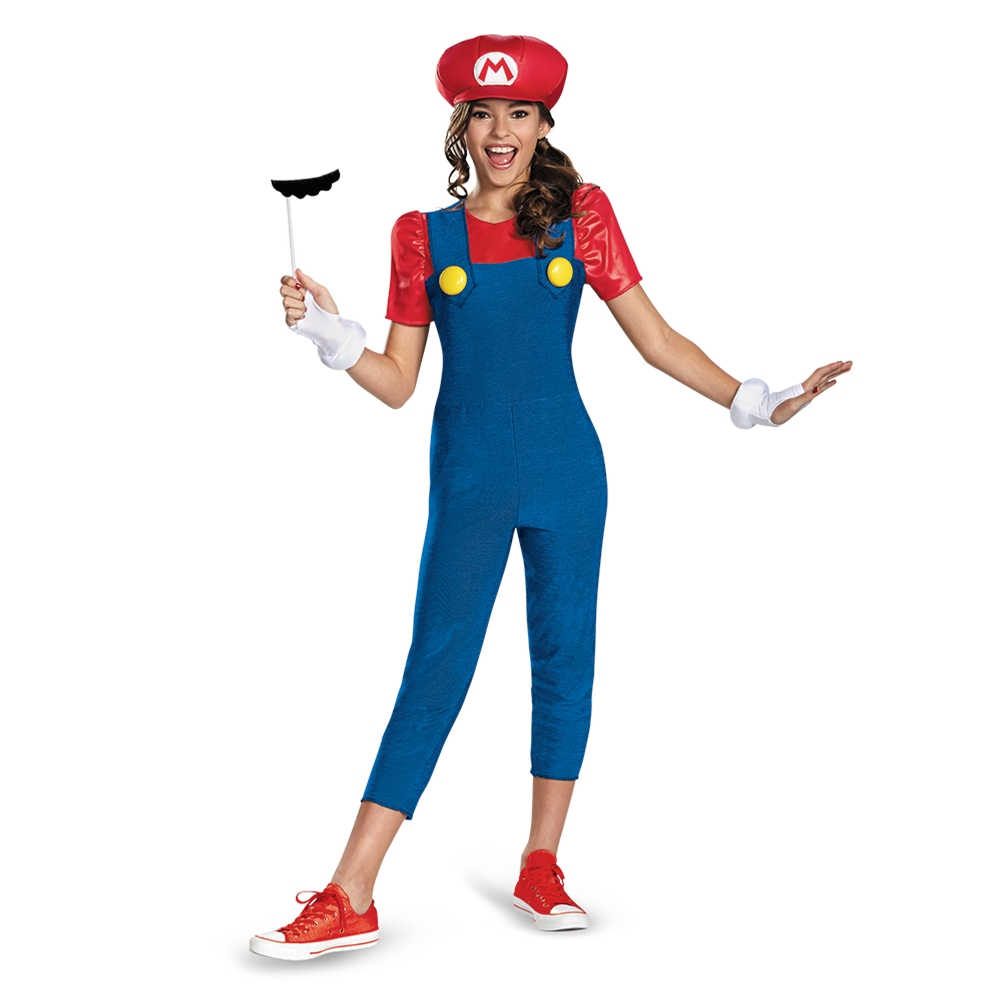Miss Mario Tween Girl Costume