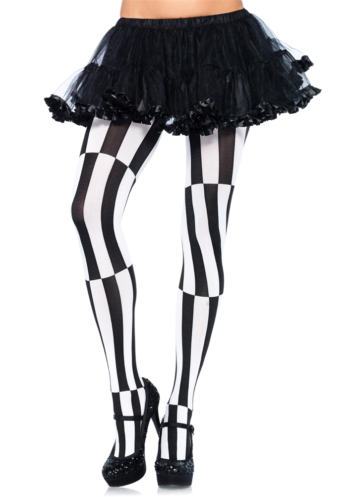 Woven Striped Optical Illusion Pantyhose