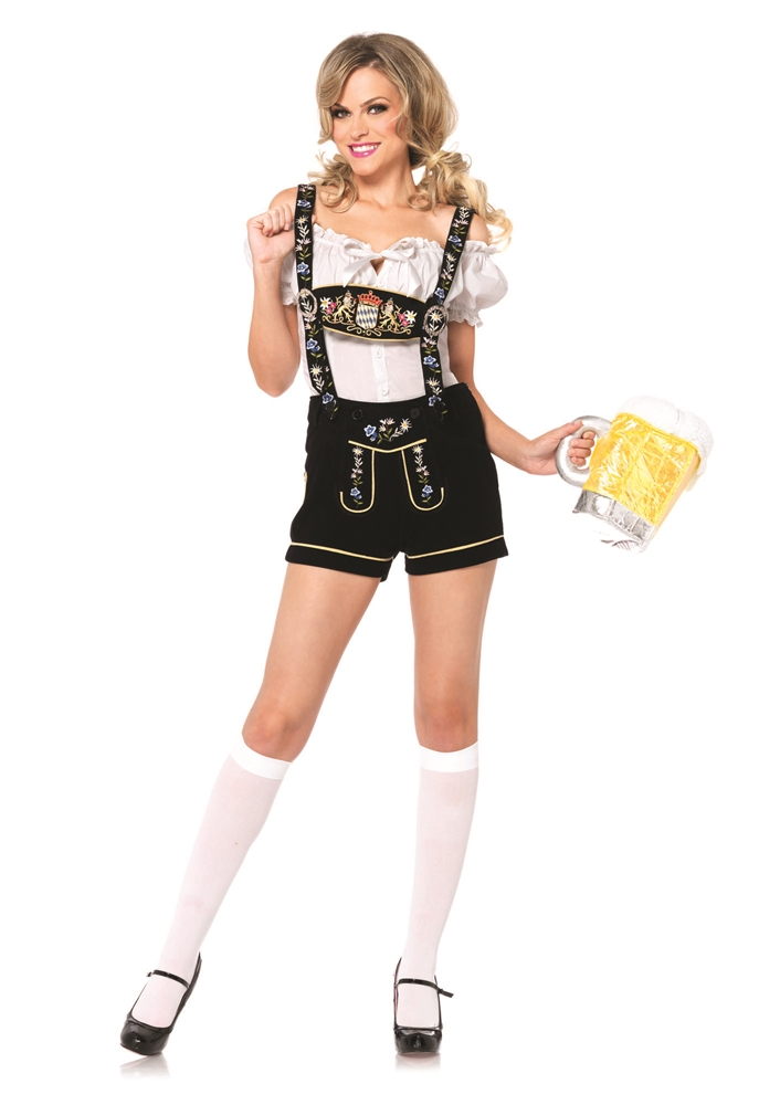 Embroidered Lederhosen Adult Womens Costume