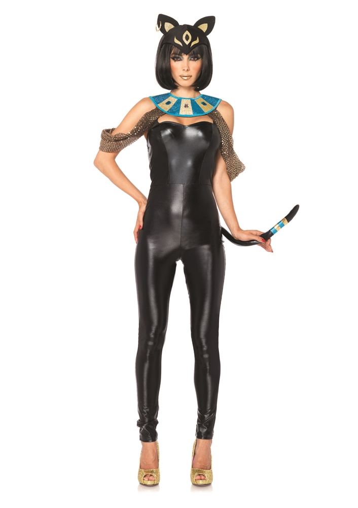 Egyptian Cat Goddess Adult Womens Costume (Egyptian Women Costume)