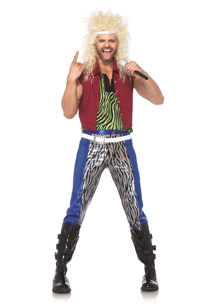 [80s Rock God Adult Mens Costume] (80s Rock Costumes)